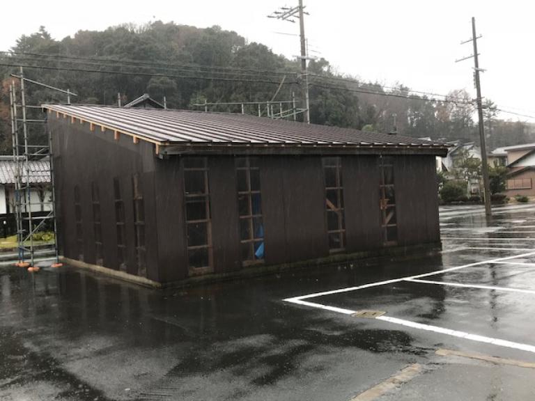 車庫の屋根修繕工事施工後
